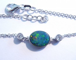 PRE EASTER SALE was US$245 Stunning Australian Doublet Opal, CZ and St