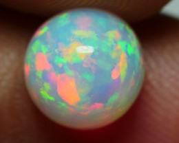 2.00 CRT BRILLIANT ROUND FLORAL WELO CHAFF PATTERN WELO OPAL