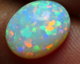 1.45 CRT GORGEOUS MILKY 5/5 BRIGTH RAINBOW PUZZLE PIN FIRE WELO OPAL