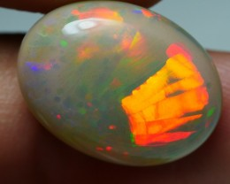 10.00 CRT BEAUTIFUL PEACOCK NEON FIRE DELUXE COLOR WELO OPAL-
