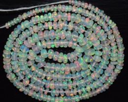 18.35 Ct Natural Ethiopian Welo Opal Beads Play Of Color