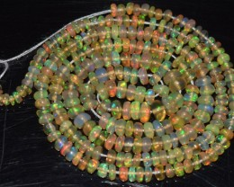 22.45 Ct Natural Ethiopian Welo Opal Beads Play Of Color