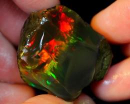 106ct Untreated Black Ethiopian Crystal Rough Specimen Rough