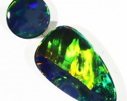 1.57CTS  OPAL DOUBLET PAIR , GREAT COLOUR PLAY --S511