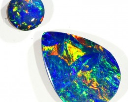 2.29CTS  OPAL DOUBLET PAIR , GREAT COLOUR PLAY --S515