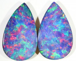 8.40CTS  OPAL DOUBLET PAIR , GREAT COLOUR PLAY --S516