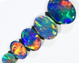 2.74CTS SET 5 OPAL DOUBLET PARCEL GREAT COLOUR PLAY --S519