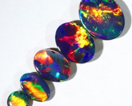 2.89CTS SET 5 OPAL DOUBLET PARCEL GREAT COLOUR PLAY --S520