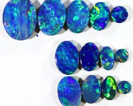 4.88CTS 13 PIECES OPAL DOUBLET PARCEL GREAT COLOUR PLAY --S530