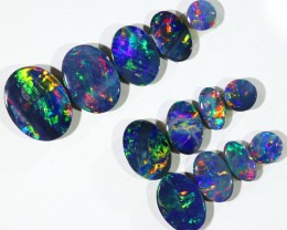 4.98CTS 13 PIECES OPAL DOUBLET PARCEL GREAT COLOUR PLAY --S531