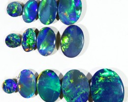 5.01CTS 13 PIECES OPAL DOUBLET PARCEL GREAT COLOUR PLAY --S532