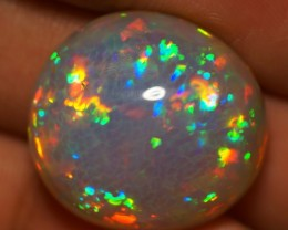 30.15 CT TOP QUALITY MULTI RAINBOW DARK BASE  ETHIOPIAN OPAL