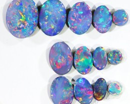 4.44CTS 13 PIECES OPAL DOUBLET PARCEL GREAT COLOUR PLAY --S538