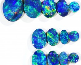 4.76CTS 13 PIECES OPAL DOUBLET PARCEL GREAT COLOUR PLAY --S540