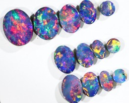 4.65CTS 13 PIECES OPAL DOUBLET PARCEL GREAT COLOUR PLAY --S541