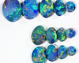 4.98CTS 13 PIECES OPAL DOUBLET PARCEL GREAT COLOUR PLAY --S542