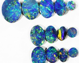 5.75CTS 13 PIECES OPAL DOUBLET PARCEL GREAT COLOUR PLAY --S543