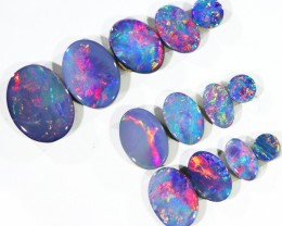 4.58CTS 13 PIECES OPAL DOUBLET PARCEL GREAT COLOUR PLAY --S546