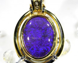 SPARKLING TWO-TONE DEEP BLUE HUGE BLACK OPAL PENDANT SCO20