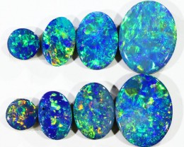 4.07CTS 8 PIECES OPAL DOUBLET PARCEL GREAT COLOUR PLAY --S548
