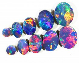 5.80CTS 8 PIECES OPAL DOUBLET PARCEL GREAT COLOUR PLAY --S549