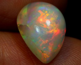 3.45ct Multicolour Flash Ethiopian Welo Polished Opal