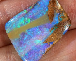 10.7ct 20x15mm Pipe Wood Fossil Boulder Opal  [LOB-1940]