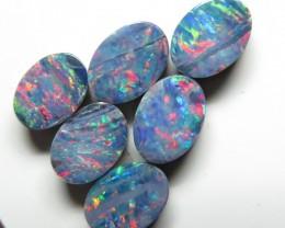 7mm  x 5mm Oval  Stone Australian Doublet Opal Parcel