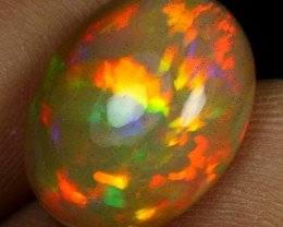 7.20cts Amazing Feather Pattern Ethiopian Opal