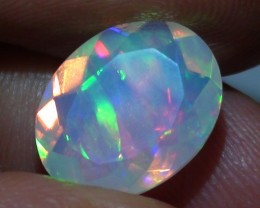 2.60 ct Stunning Full Face Gem Electric Rainbow Welo Facet