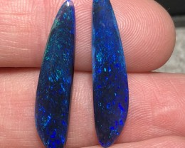 8.71ct Lightning Ridge Gem Black Opal Pair LRS585