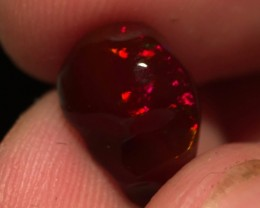 BLOOD RED 3.5ct Mexican Crystal Opal (OM)