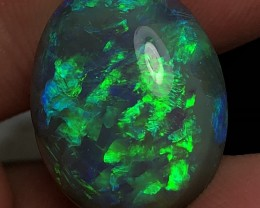 18.44ct Lightning Ridge Gem Dark Opal LRS106