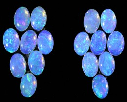 4.35CTS 16 PIECES CALIBRATED OPAL PARCEL GREAT COLOR PLAY- S665