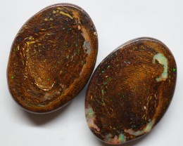 64.40CT VIEW PAIR QUEENSLAND BOULDER OPAL OI607