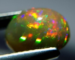 1.56 ct Sparking Gem Oval Cabochon Natural Ethiopian Fire Opal