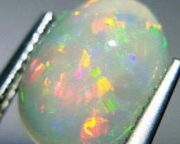 3.25 ct  Awesome Fire Oval Cabochon Natural Ethiopian Fire Opal