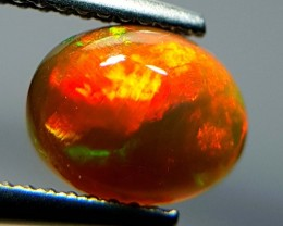 1.15 ct  Stunning Fire Oval Cabochon Natural Ethiopian Fire Opal