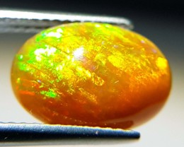 3.04 ct Brilliant Fire Oval Cabochon Natural Ethiopian Fire Opal