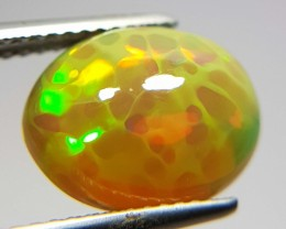 3.22 ct Beautiful Fire Oval Cabochon Natural Ethiopian Fire Opal