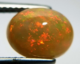 2.27 ct Wonderful Fire Oval Cabochon Natural Ethiopian Fire Opal