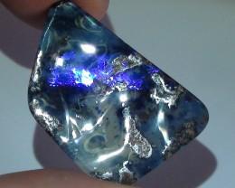 17.15 ct Boulder Opal With Gem Blue Stripe