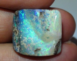 18.35 ct Boulder Opal With Beautiful Carved Blue Green