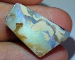 20.75 ct Boulder Opal Picture Stone Drilled Pendant