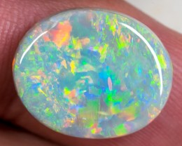 SEMI-BLACK OPAL LIGHTNING RIDGE MULTI-COLOR SOLID 9.50ct GEM SBOP110818