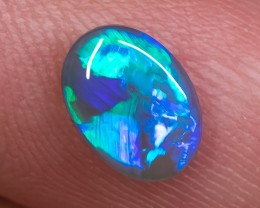 ELECTRIC DARK OPAL LIGHTNING RIDGE SOLID 1.24ct GEM $1 N/R AUCTION SBB12081