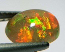 1.20 ct Excellent Fire Oval Cabochon Natural Ethiopian Fire Opal