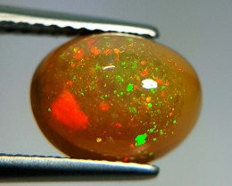 2.16 ct Wonderful Fire Oval Cabochon Natural Ethiopian Fire Opal