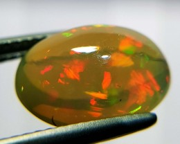 3.13 ct Marvelous Fire Oval Cabochon Natural Ethiopian Fire Opal