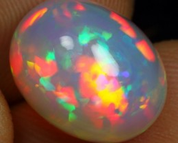 7.90cts STRONG BROAD RAINBOW FIRE Natural Ethiopian Welo Opal